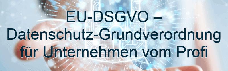 EU-DSGVO – Datenschutz-Grundverordnung für Unternehmen vom Profi